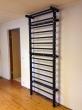 Steel Stall Bars in Black, 7'-6'' High, code 221-Metall