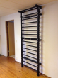 Steel Stall Bars in Black,7'-6'' High,code 221-Metal