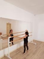 Διπλή μετακινούμενη μπάρα μπαλέτου, σχολικό μοντέλο μήκους 2,5μ., κωδικός 113-3M κωδικός: 113-3Μ