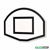 Panneau de basketball Artimex demi lune 120 x 90 cm,code 169