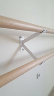 Ballettstangenhalter aus Stahl doppelt , Artikelnr. 113-Wand