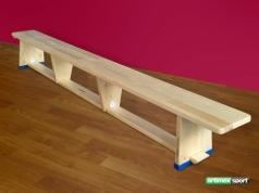 Gymnastická lavička s drevenými nohami, 3m, kód 203