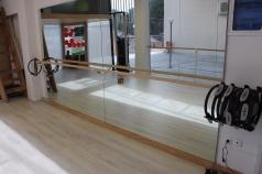 Ballettstange mit 3 Wandbefestigungen, 2.5 m, Artikelnr. 113-Einfach