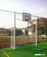 Voetbaldoel & basketbal set,code 421