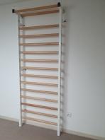 Stall bar metal/wood, 15 Rungs, 7 feet, 6 1/2 inches x 2 feet, 11 1/2 inches, code 221-M