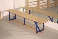 Gymnastické a šatňa lavičky s kovovou konštrukciou, 2m, kód 202-MS