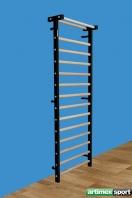 Espaldera con armazón lateral metálico, 2.3x0.9 m, codigo 221-M-Negro