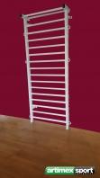 Steel Swedish ladder,2.3x0.9 m,code 221-Metall White