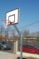 Basketbalová konštrukcia jednostĺpová s ramenom 1m, pre veľkosť tabule 90x120cm