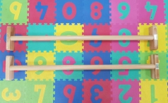 Beukenhout brug met gelijke leggers, 150 cm, artikelnr. 248/parallettes-lang
