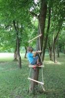 Holz Strickleiter für Kinder, Spiel - Leiter, 250 cm lang,artikelnr 743