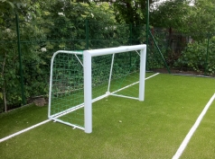Mini Football goal, aluminium, 1.8x1.2 m, code 406-oval