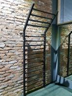 Steel Stall Bar, 255x100 cm,17 rungs, code 221-Gladiator