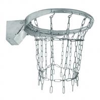 Basketballring mit Feder verzinkt,artikelnr 108-verzinkt