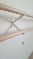 Διπλό στήριγμα τοίχου για μπάρες μπαλέτου 113-στήριγμα