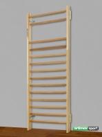 Espalier suedois Nantes, 230x85 cm,14 barreaux, Ref. 221