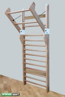 Double function Swedish ladder, 2.4x0.9 m, 16 rungs, code 7445