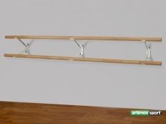 Διπλή μπάρα μπαλέτου με στηρίγματα τοίχου , κωδικός 113