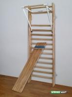Επικλινής πάγκος για πολύζυγο, από ξύλο οξιάς, 1.9x0.37 m, κωδ. 251-F