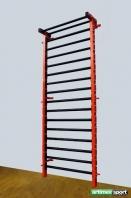 Fekete/ narancssárga torna fém bordásfal 2.3x0.9 m, kod 221-Metall-Orange