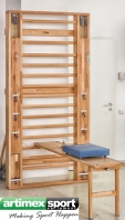 Abdominal bench to be hooked on wall bars, code 280-bench