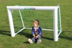 Mini Football goal, aluminium, 1.2x0.8 m, code 400 oval
