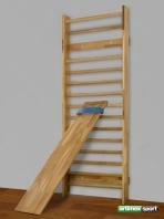 Šikmá lavička na Rebriny, Dubové drevo, 1.9 x 0.37m, kód 251-E