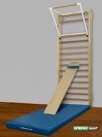 Sprossenwand , Klimmzugbügel, Schrägbrett, Gymnastikmatte ,Artikelnummer  265
