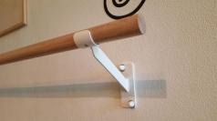 Ballettstangenhalter aus Stahl einfach, Artikelnr. 113-Wand/Einfach