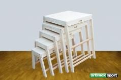 Trapez Set aus Holz,5-er set,Artikelnr  218
