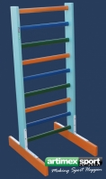 Freestanding Swedish ladder,1.4x0.6 m,code 250-Multicolor