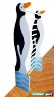 Espaldera infantil pingüino,1.7x0.6 m,codigo 250-Pingüino