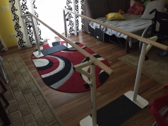 Adjustable rehabilitation parallel bars, code 299-Folding