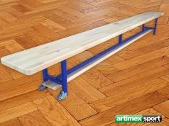 Turnbänke mit Holzfüßen mit Fahrrollen ,2.5 m, Artikelnummer  202-R