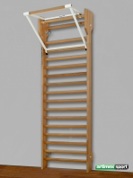 Espaldera de Haya 2.4 m y barra de traccion,codigo 259- F