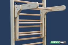 Adapter Klimmzugbügel und Dipstation für Sprossenwand,Artikelnr. 248-Holz