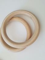 Gymnastiek houten ringen set,code 1163