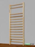 Espalier de gymnastique Lille, 2,3x1m, 14 barreaux, Ref. 221-2