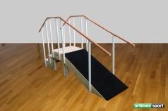 Reha Übungstreppe mit Handlauf, Gerade Ausführung, WMM175