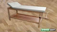 Stationäre Holz-Massageliege, Holz, 2000x850x800 mm, Artikelnr 220-L