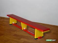 Gymnastické lavičky s drevenými nohami COLOR, 2m, kód 202-B