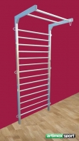 Stainless Steel Wall Bar,230x100 cm,code 231-Gladiator Inox