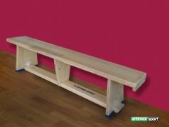 Gymnastická lavička s drevenými nohami, 2m, kód 202