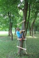 Holz Strickleiter für Kinder, Spiel - Leiter, Sisalseile, 250 cm lang