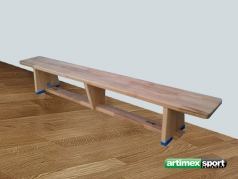 Gymnastic bench made from beechwood, code 202-F