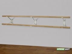2 Balettstangen +3 Wandhalter,250 cm,Artikelnummer 113