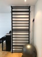 Ribbstol av stål, svart, 230+90 cm, art. nr. 221-Metall