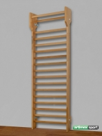Beech wood wall bars Hong Kong model, 240x90 cm, code 216- F