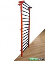 Steel Wall Bars, Orange/Black, 2.3x0.9 m, code 221-Metall-Orange