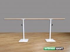 Freistehende Balettstange Einfach, 2.5m, Artikelnr. 113-M